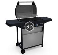 barbecue gaz class 2 lx vario grille et plancha en acier. Black Bedroom Furniture Sets. Home Design Ideas