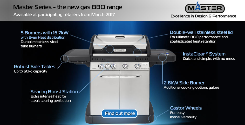 Master Series gas barbecue