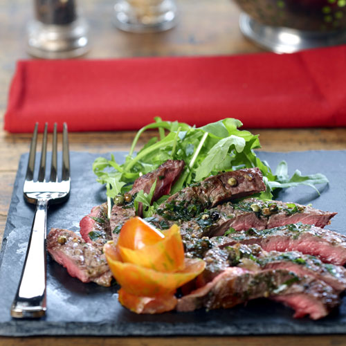 Campingaz - French beef steak with cilantro, soy and ginger